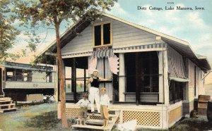 LPS40 LAKE MANAWA Iowa Dietz Cottage Oneonta Postcard