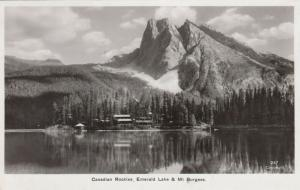 RP, BRITISH COLUMBIA, Canada, 1930; Canadian Rockies, Emerald Lake & Mt. Burgess