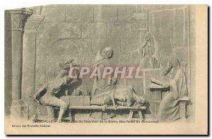 Old Postcard Abbeville Suppice the Chevalier de la Barre Low Relief Monument