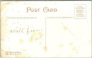 1910s Artist-Signed GENE CARR Postcard PALS Boy w/ Large Firecracker 4th July
