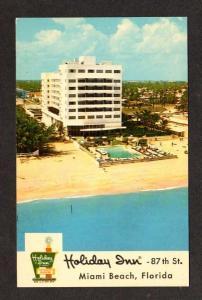 FL Holiday Inn Hotel Pool MIAMI BEACH FLORIDA Postcard