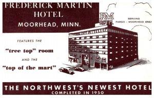 Minnesota  Moorhead Frederick Martin Hotel