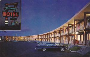 2-Views, Night View of Belvedere Motel Inc., Montreal, Province of Quebec, Ca...