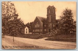 Centerville Iowa~SHARP Sepia~First Baptist Church on West State St~Neighbor~1912