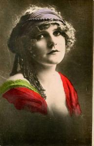 1920's Lady.     *RPPC (Colorized)