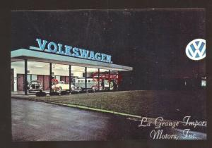 LAGRANGE ILLINOIS VOLKSWAGEN CAR DEALER ADVERTISING POSTCARD VW LA GRANGE