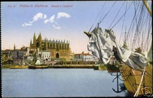 spain, PALMA DE MALLORCA, Muelle y Catedral (1910s)