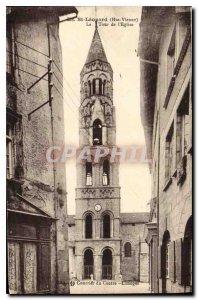 Old Postcard Haute Vienne St Leonard's Church Tower