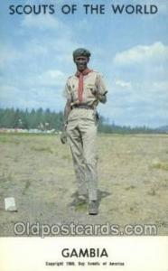 Gambia Boy Scouts of America, Scouting Postcard, Post Cards, Copyright 1968  ...