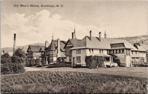 Old Men's Home Kamloops BC British Columbia Seniors Unused Vintage Postcard E43