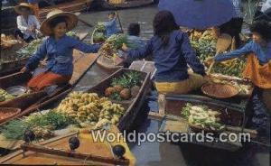 Bangkok Thailand Floating Market, Wat Sai  Floating Market, Wat Sai