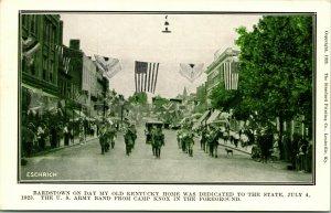 Vtg Postcard July 4, 1924 Bardstown KY on Old Kentucky Home Dedication Date UDB