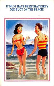 Must have been that Dirty Old Buoy on the Beach! Comic Humour, Bath Swimwear