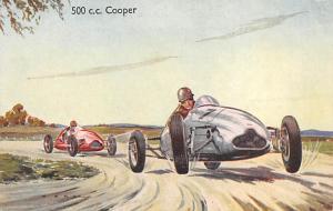 Cooper Auto Race Car, Racing Postcard writing on back