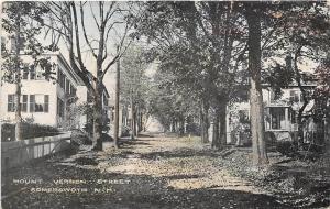 Mount Vernon Street Somersworth New Hampshire 1910c postcard