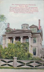 Rev Edward Everett Hale Residence Roxbury Massachusetts 1911
