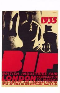 Postcard Nostalgia British Industries Fair Britannia Poster 1935 Repro Card