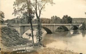 Blake 1930s Prize Drive Elk River Bridge Noel Missouri RPPC real photo 5545