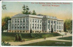 Postcard Pre-Fair 1908 Fine Arts Building 1909 Alaska Yukon Pacific Seattle WA