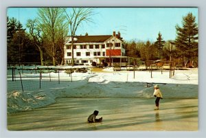 Jaffrey NH- New Hampshire, Woodbound Inn and Cottages, Chrome c1966Postcard
