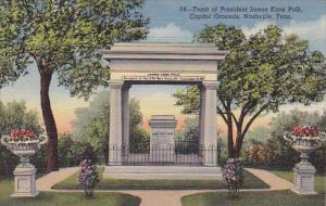 Tomb Of President James Knox Polk Capitol Grounds Nashville Tennessee