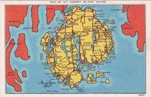 Map Of Mount Desert Island Maine