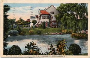 Hayes Residence at Willow Pond - East Avenue, Rochester, New York - pm 1915 - WB