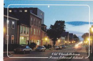 Evening looking west on Water Street, Old Charlottetown, Prince Edward Island...