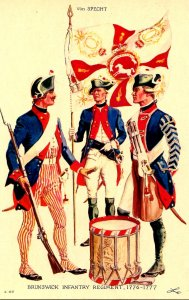 Brunswick Infantry Regiment, 1776-1777