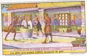 Liebig Trade Card s1501 Bread Wine and Oil Of Rome No 5 L'huile