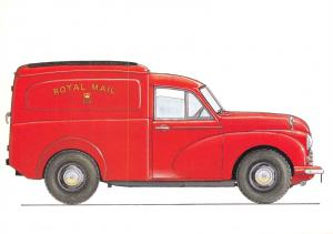 Royal Mail Transport Postcard 1956 Morris Minor 5cwt Van Royal Mail Post Van Y23