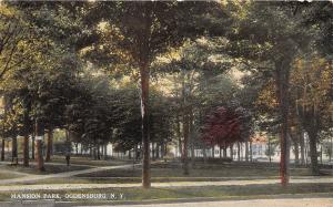 B87/ Ogdensburg New York NY Postcard c1910 Mansion Park Scene