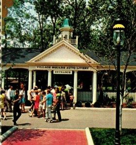 c 1960s Cedar Point Amusement Park Village Square Auto Livery Sandusky OH