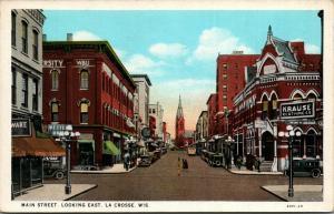 La Crosse Wisconsin Business WBU~Krause Clothing Store~Western Union~Church 1929