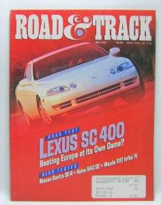 Road & Track July 1991 Vintage Magazine Lexus SC400