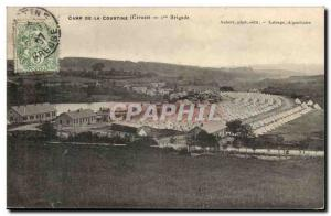Creuse Old Postcard Camp of Courtine 1st Brigade