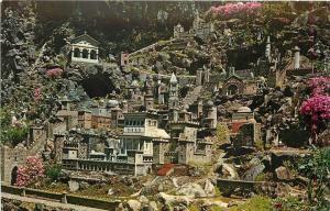 Cullman Alabama~Jerusalem~Ave Maria Grotto~St Bernard College 1950 Postcard