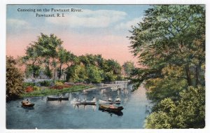 Pawtuxet, R.I., Canoeing on the Pawtuxet River