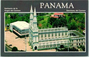 1960s Panama City Postcard Sanctuary del Carmen Church / Aerial View - Chrome
