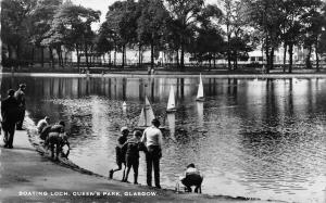 BR70576 boathin loch queen s park glasgow real photo  scotland