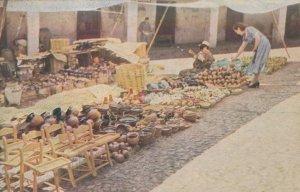 Pottery Market Mexico Old Kodak Postcard