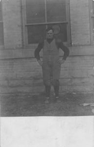 Muscular Man Weightlift Suit Real Photo Antique Postcard K7876517