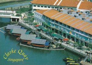 Singapore Clarke Quay Shopping Area & Restaurants