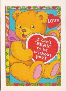 Valentines Day Teddy Bear With Red Heart Anna Pomaska