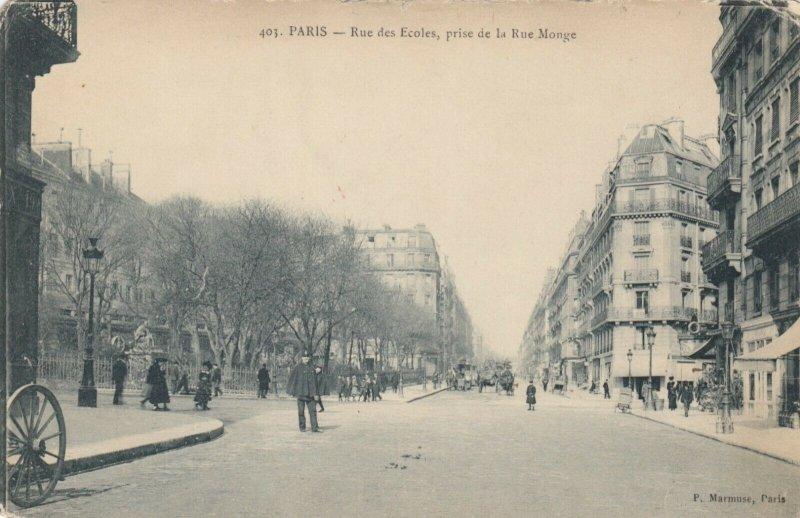 PARIS, France, 1900-10s ; Rue des Ecoles