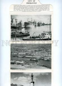 168096 AUSTRALIA City of FREMANTLE Old Booklet with 16 Photos