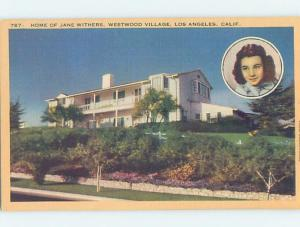 Linen HOME OF ACTRESS JANE WITHERS Westwood Village - Los Angeles CA d0851