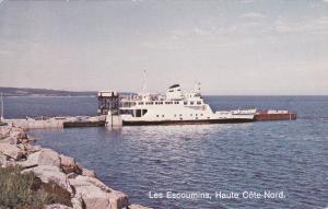 Ferry , Les Escoumins , Haute Cote-Nord , Quebec , Canada , 50-70s