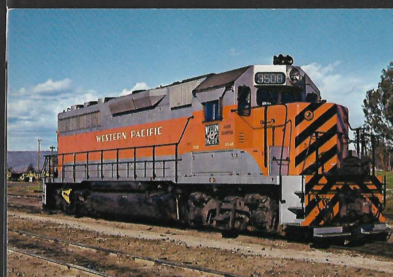 TRAINS, WESTERN PACIFIC RR CO. EMD GP40, OROVILLE CALIF.