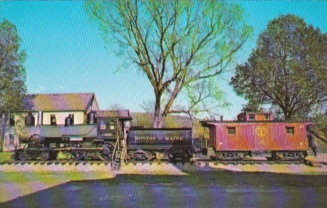 Old Steam Engine and Caboose At White River Junction Vermont